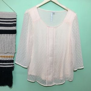 {3/$25} lauren conrad • long sleeve blouse